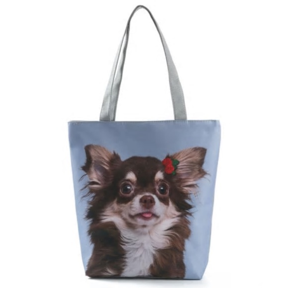 Handbags - Canvas Shoulder Bag Women Tote Handbag Dog Style